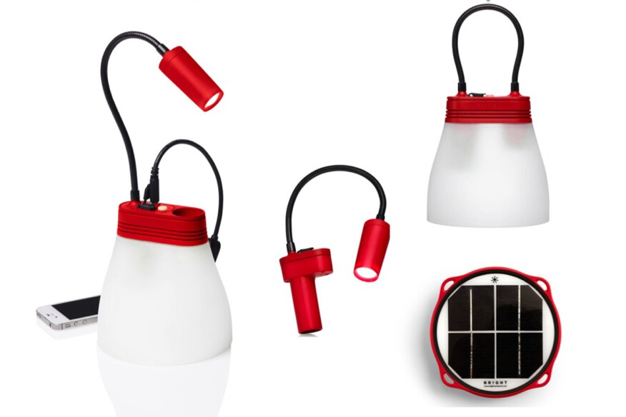 SunBell Solar LED Lamp and Phone Charger by Bright Products