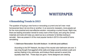 4 Remodeling Trends in 2013