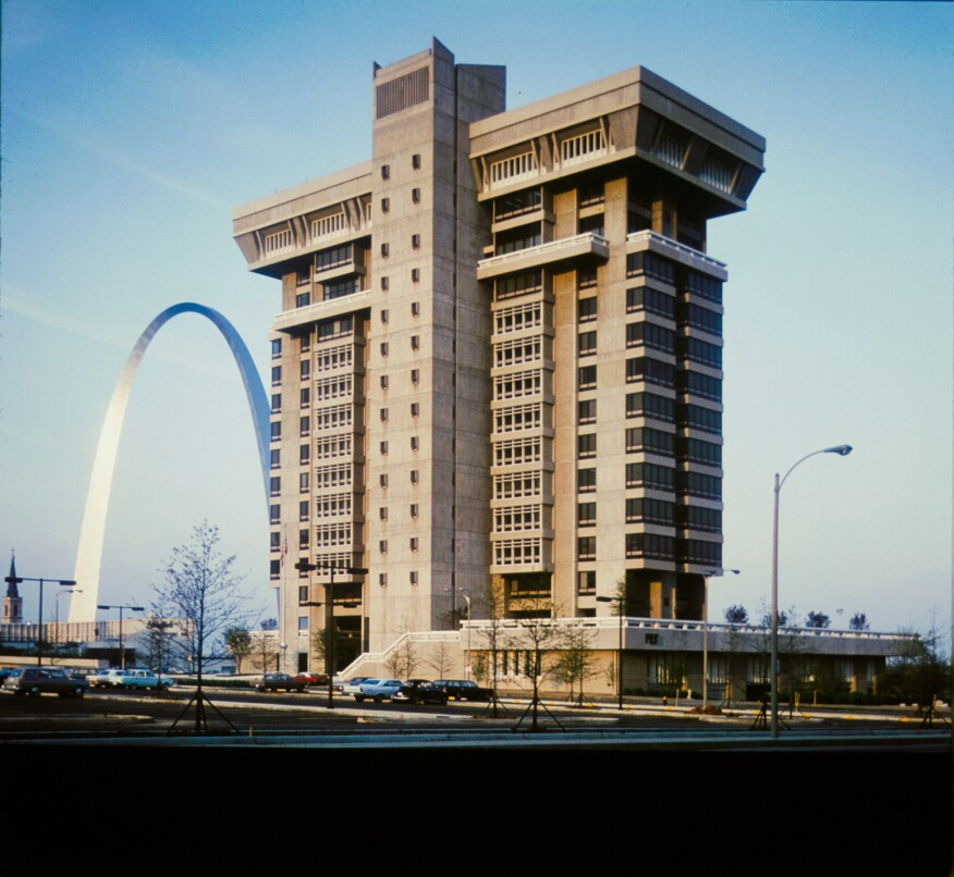 View from south, Pet Plaza, St. Louis