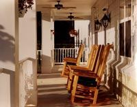 Park View at Ellicott City is a 172-unit senior facility. The porch offers an outside retreat for residents to enjoy.