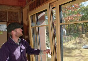 Hardware on European windows allow them to tilt in for ventilation.
