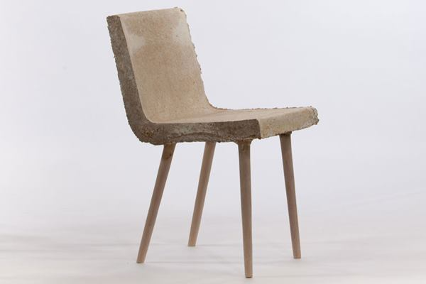 Chair made from mushroom mycelium by Merjan Tara Sisman.