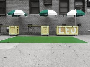 A modular street market designed by Dub Studios for   New York's Lower East Side was inspired by the Build a Better Burb competition and could be constructed in a suburban setting.