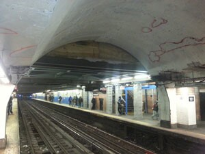 The NYC MTA subway station