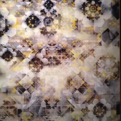 Marcel Wanders' textile, Digital Glow, for Moooi.