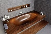 Wooden Bathtubs Deliver Strength and Style
