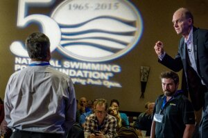 At last year's World Aquatic Health Conference, the keynote speaker was Olympic gold medal swimmer Rowdy Gaines (shown). At the 2016 WAHC, there will be two keynoters, Dr. Wallace J. Nichols and Bruckner Chase, who will focus on people's relationship with water.