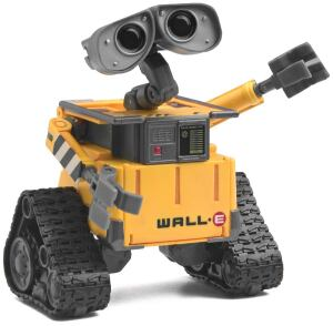 Robot man: WALL-E, the last waste-disposal robot left on a depopulated Earth that is overrun by garbage, stars in Pixar's animated film (and has spawned the requisite line of landfill-ready toys, such as the one shown at right).