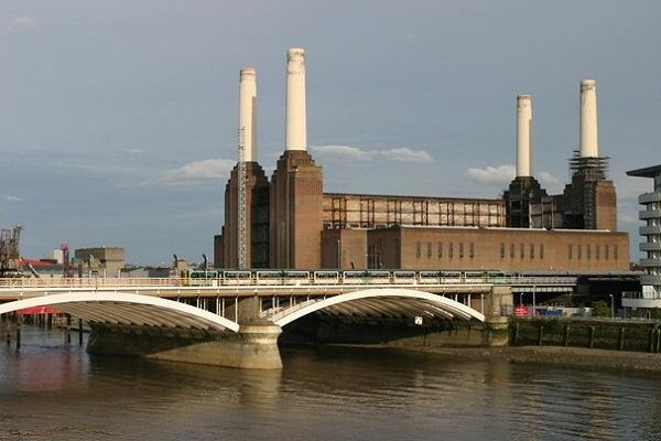 The Battersea Power Station.