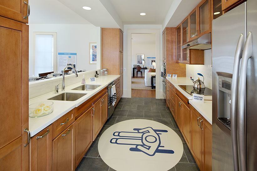 Wounded Warrior Home kitchen