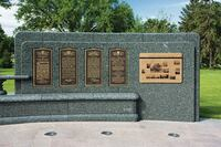 Granite war memorial improved