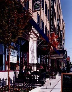 Dranoff Properties had to find a way to connect the Left Bank to the sidewalk. After filling in the sidewalk, the company was able to create an attractive urban ambiance with sidewalk cafes and street retail, which helped to transform the character of the entire West Philadelphia area.