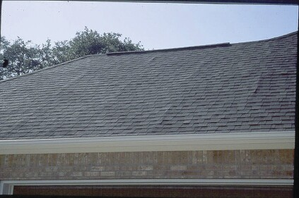 Wet sheathing may swell at the edges. When the sheathing dies, the edges may still not return to ttheir original size and ridges telegraph through roofing. Photo: Steve Easley