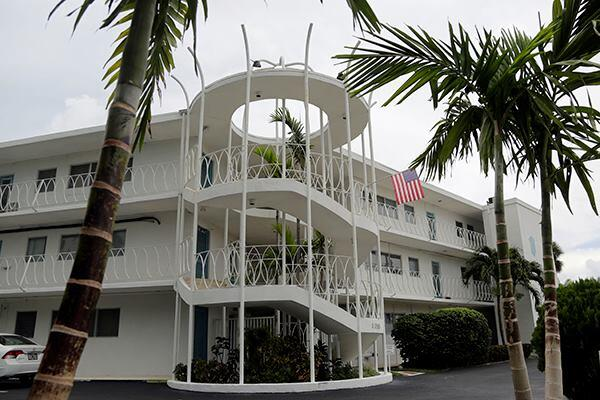 "A building designed by architect Charles McKirahan in Bay Harbor Islands, Fla. The National Trust for Historic Preservation included Bay Harbor's East Island on the list of the ""11 most endangered places"" due to its concentration of mid-century Miami Modern architecture, which is being threatened by redevelopment."