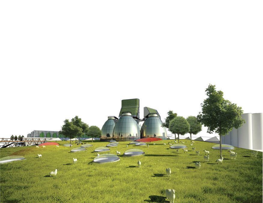 Composting area.