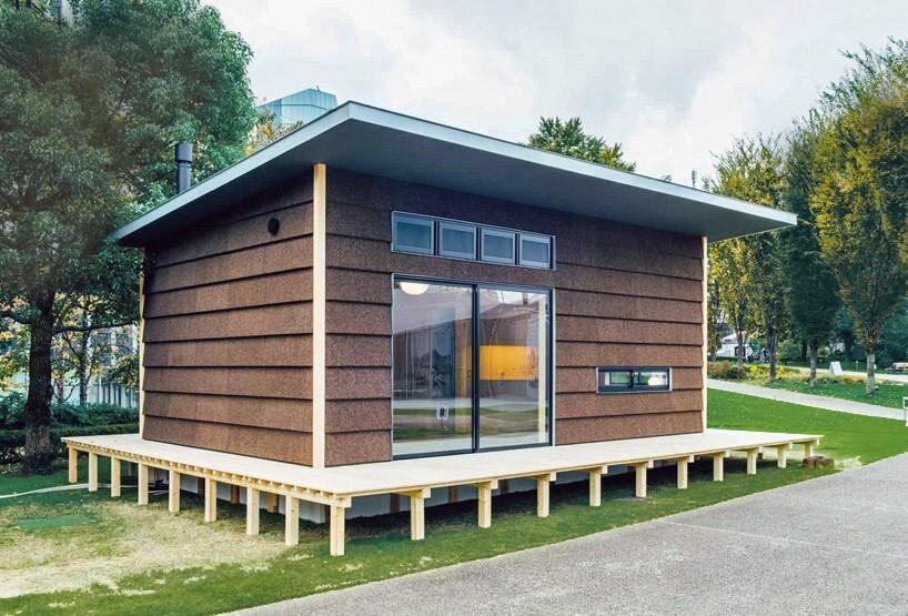 """""""Cork Hut"""", image via Design Boom"""