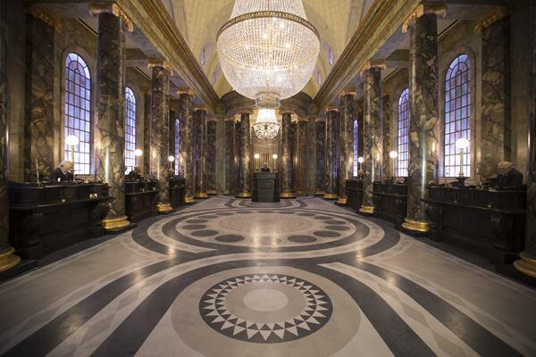 """A part of Universal's Diagon Alley project, """"Harry Potter and the Escape from Gringotts"""" (shown) is an interactive exhibit that features 360-degree themed sets, 4K digital high-definition animation, and 3-D projections."""
