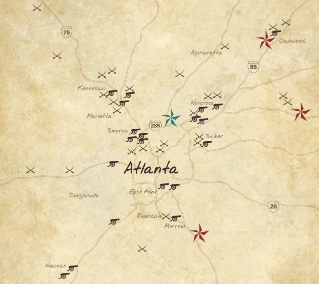 Atlanta dealers map