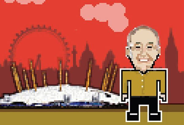 Richard Rogers, with the Millennium Dome.