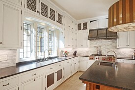 Kitchen in a New English Tudor Residence