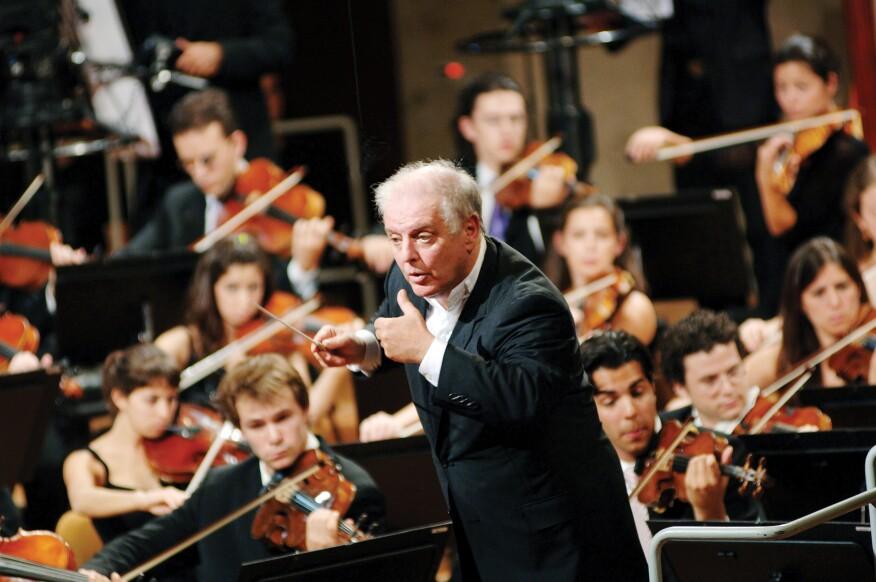 Barenboim conducting
