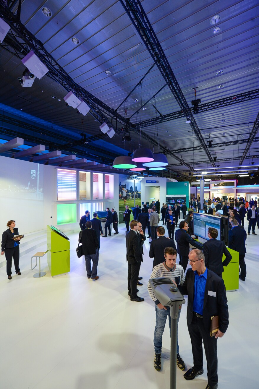 The Philips stand at Light+Building 2016.