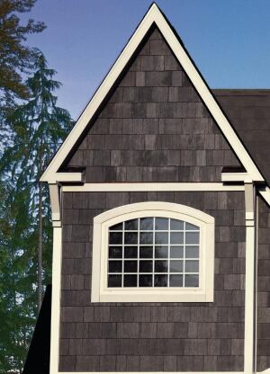 James Hardie. The re-engineered HardieShingle fiber-cement siding line offers an authentic-looking wood-grain appearance in a straight-edge panel, a staggered-edge panel, and individual shingles in five widths. The siding is available primed or with ColorPlus pre-finishing. Under the companys HardieZone system, each panel is engineered to meet the needs of the region in which it is installed. 888.542.7343. www.jameshardie.com.