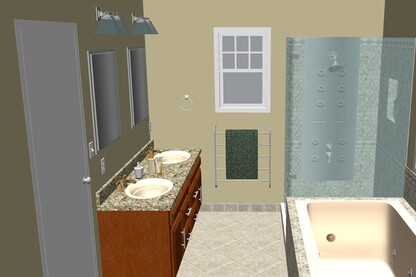 Add a new 100-square-foot master bathroom to existing master bedroom over a crawlspace.