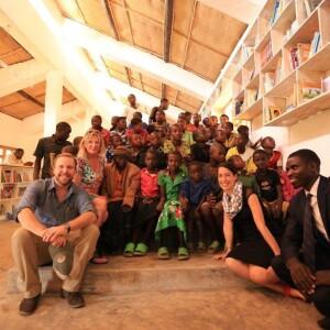Project team members and community residents, Sunzu Village Library, Rwanda