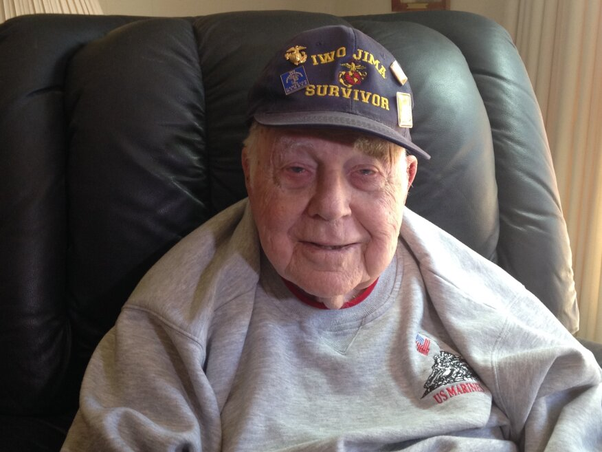 James Hearring, 91, served in the Marines during WWII.