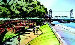 Plans for the New Orleans Inner Harbor Navigation Canal Park won special recognition  from the local chapter of the American Institute of Architects. Photo: Perez  APC