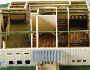 The printing technology can build up thin walls and beams, allowing a true model of a space.