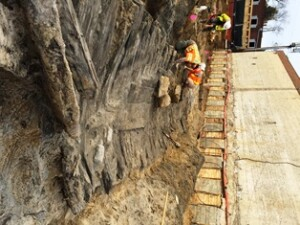 Archaeologists are working to preserve and study the partial hull of a Revolutionary-era wooden ship discovered in Alexandria, Virginia.
