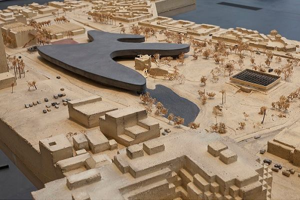 """""""The Presence of the Past: Peter Zumthor Reconsiders LACMA"""": installation view."""