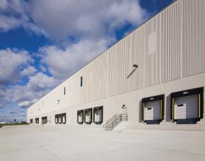 Building A has 103 loading docks, expandable to 173. Building B has 15 loading docks, expandable to 24.