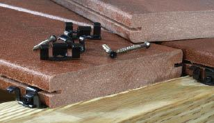Figure 5. Hidden-fastener clips usually have either prongs that are driven into the side of the deck board (left) or tabs that engage in grooves milled in the side of the decking (right).