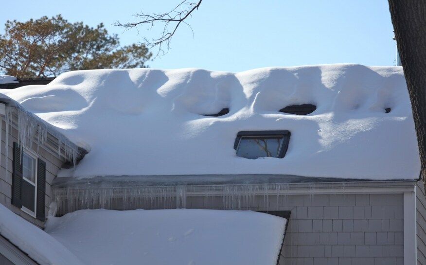 Another type of load that code addresses is snow, where accumulation can concentrate extra weight in smaller areas for periods of time. Local jurisdictions have guidelines for the roof framing to accommodate those loads.