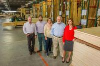 L-R:Sales ManagerRick Mosher; Carl A. (Carlos) Detering III; Cassie Detering Milam; Carl A. Detering, Jr.; andGeneral ManagerAlicia Bedman in the new facility
