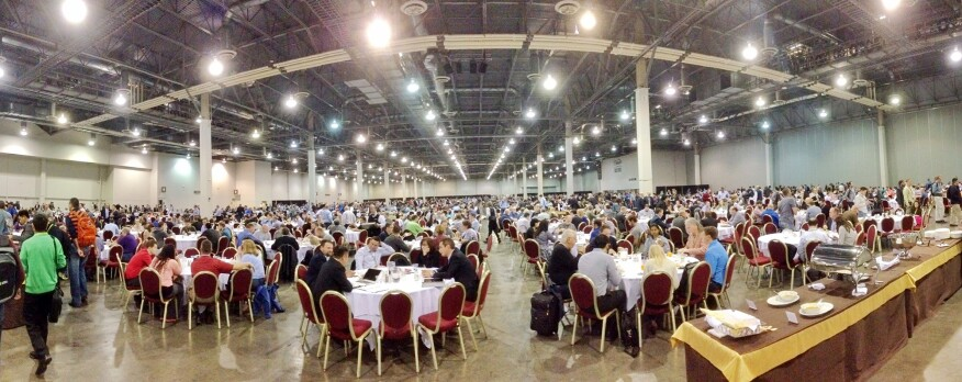 Breakfast time for 9,000-plus AU attendees.