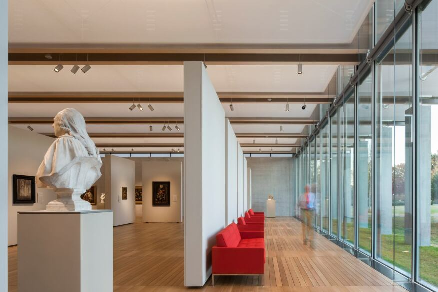 South gallery interior, view from the west.