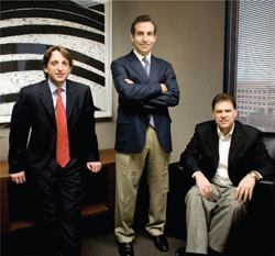 UNITED FRONT: (L to R) Robert Landin, Jeffrey Goldberg, and Steve Lamberti collaborated to shape The Milestone Group into an investment organization that manages complex transactions with speed and expertise.
