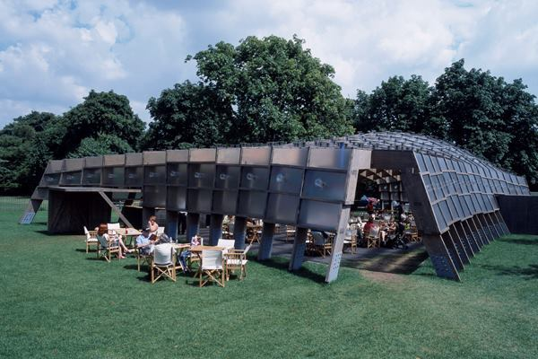 Serpentine Gallery Pavilion 2005, designed by Álvaro Siza, and Eduardo Souto de Moura with Cecil Balmond / Arup