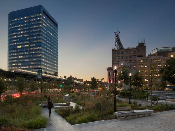 Margie Ruddick's 2012 landscape for Queens Plaza in Long Island City, N.Y.