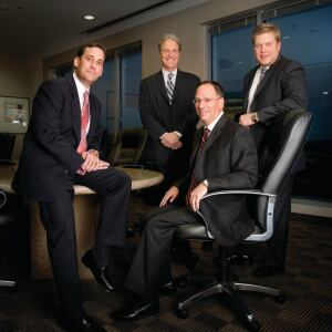 Capital Team: The senior management team for Behringer Harvard's multifamily platform includes (L to R): senior vice president Mark Alfieri; president and co-chief operating officer Robert Aisner; executive vice president and co-chief operating officer Robert Chapman; and chief administrative officer M. Jason Mattox. Familiarity amongst the team since their days at AMLI Residential has bred a decisive acquisition unit delivering speed and certainty of execution into the multifamily deal space.