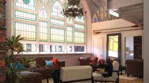 The interior of The Sanctuary, a 30-unit condo conversion of Washington, DC's Way of the Cross church.