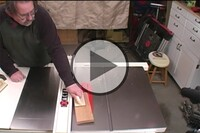 Woodworker Demonstrates the Danger of Tablesaw Kickback