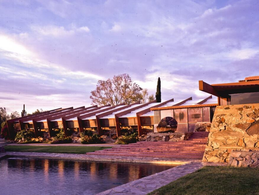 Taliesin West, Scottsdale, Ariz., by Frank Lloyd Wright. Chosen by Ted Flato, FAIA,  Lake|Flato Architects, and Luis Ibarra,  Ibarra Rosano Design Architects.