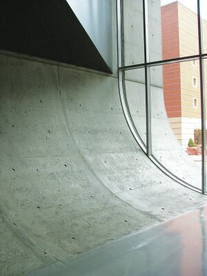 The completed work for the Urban Carpet Roll at the Rosenthal Center for Contemporary Art in Cincinnati was representative of the mockup.