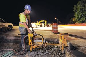 On-grade models operate from the subgrade level and are easy to position from one patch to the next.