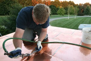 Installing a Flat-Seam Copper Roof